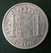 20 reales 1857. Isabel II. Madrid 20180429_112638-1