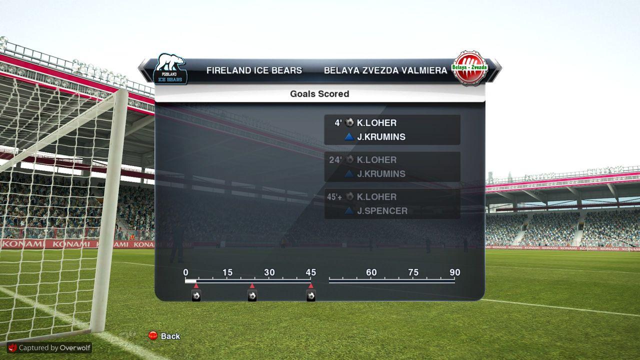 GM42 Phoenix PSC - Riga Wolves FC, GM43 Fireland Ice Bears - BZ Valmiera Pro_Evolution_Soccer_2013_01_06_2015_23_06_29