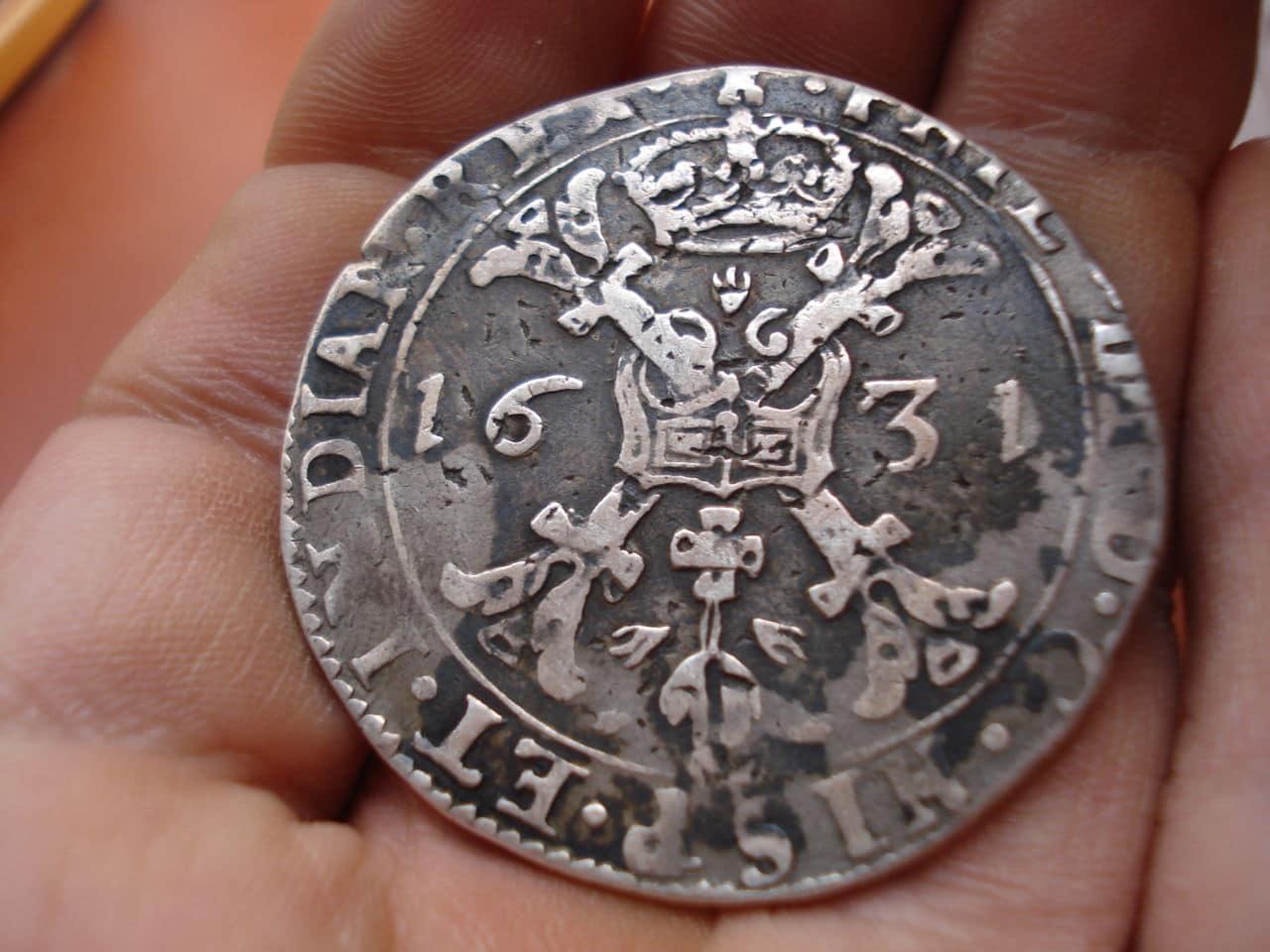 1 patagón 1631. Felipe IV. Señorío de Tournai. Patagon_005