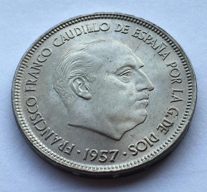 25 pesetas 1957 (*67). Estado Español. Opinión IMG_8307