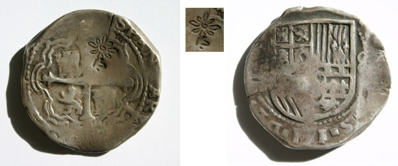 8 reales. Felipe III. Posible contramarca de Sumanep (Estrella de Madura). 8_Reales_2