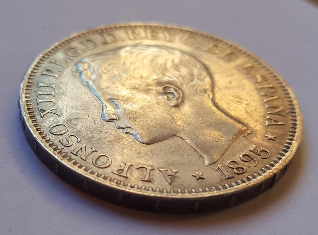 1 Peso 1895. Alfonso XIII Puerto Rico. 20171113_154239
