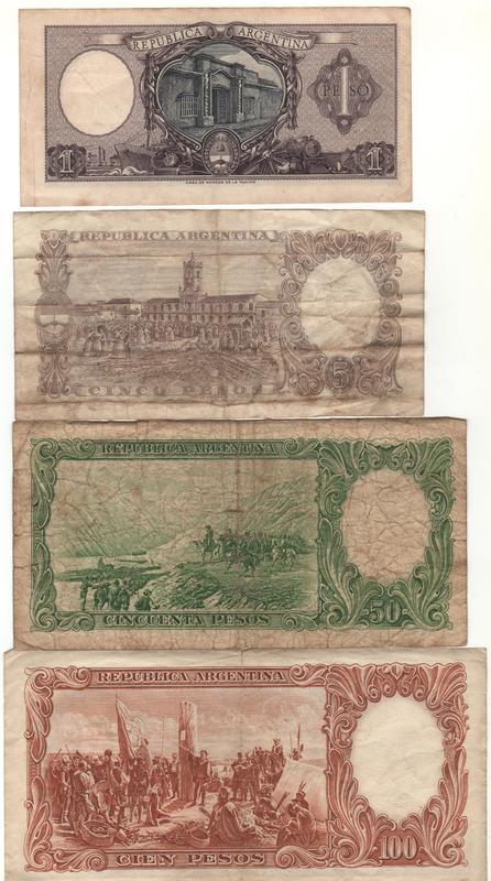1 Peso Argentina, 1947 REVERSO_SERIE