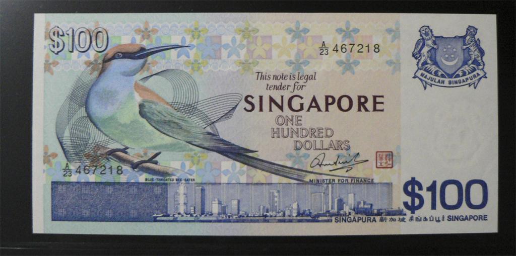 500 Dólares Singapur, 1977 Sgp100b