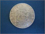 8 reales 1768. Carlos III, México MF P1130022