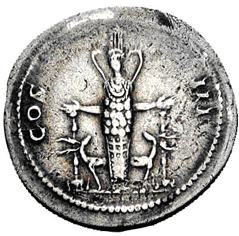 Glosario de monedas romanas. DIANA EFESIA - DIANA DE ÉFESO. Image