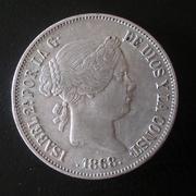 2 escudos 1868 (*68). Isabel II Madrid. Dedicada a Blas de Lezo 20180506_174110