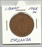 Monedas con animales domésticos 1_penny_irlanda_1966_a