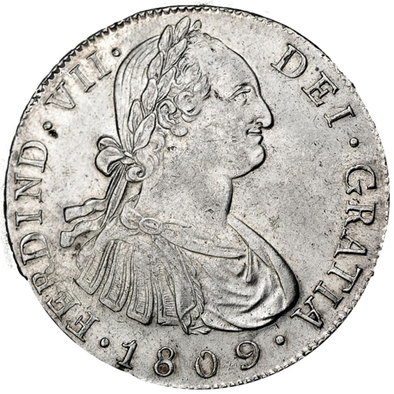 8 Reales 1809 M. Fernando VII. Nueva Guatemala (NG). 621a