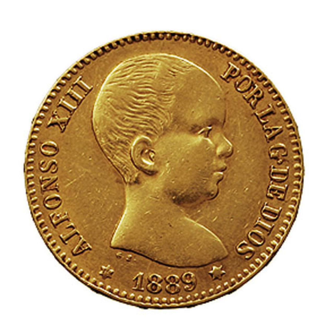 20 Pesetas 1890 (* 18-90). MPM. Alfonso XIII. 16561_a