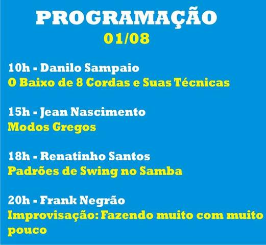 CONABASS - I Congresso Nacional de Contrabaixo. 01_agosto_2014