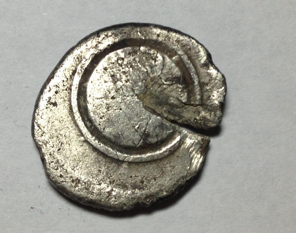 Denario semifraccionado de Augusto. S P Q R CL V en dos líneas inscripto en escudo redondo. Caesaraugusta,  IMG_2119