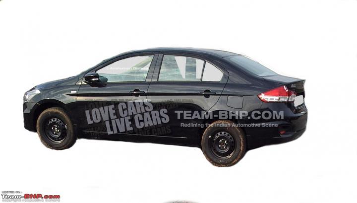 2014 - [Suzuki/Maruti] Alivio / Ciaz Maruti_Suzuki_YL1_sedan_spied_side_profile