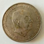 100 pesetas 1966 (*19-??). Estado Español. Anverso