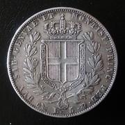 5 liras Carlo Alberto 1844 rey de Cerdeña 20180330_111640-1