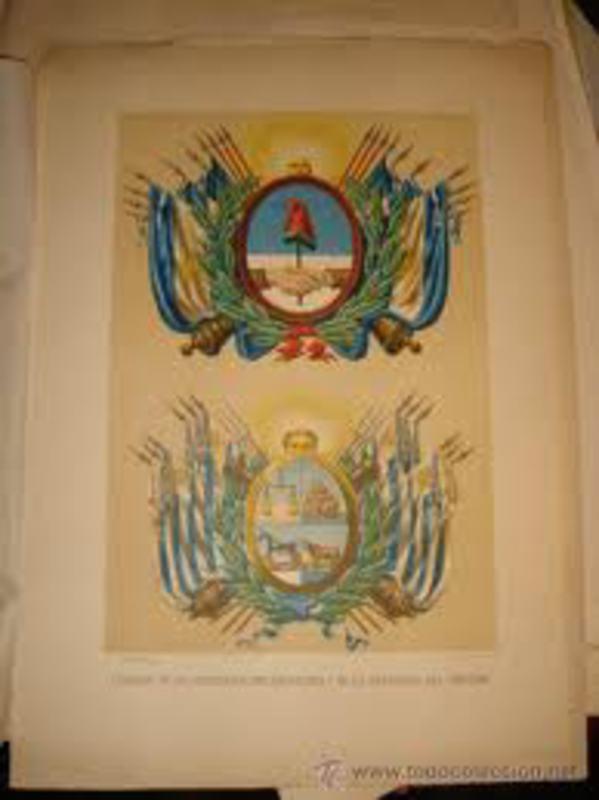 LA MONEDA DEL PRIMER DEFAULT ARGENTINO - 2 CENTAVOS MONEDA NACIONAL AA_ESCUDO_DE_LA_CONFEDERACION_ARGENTINA