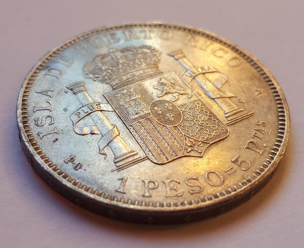 1 Peso 1895. Alfonso XIII Puerto Rico. 20171113_154321