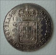 960 Reis 1812 B, João Prince Regent Image