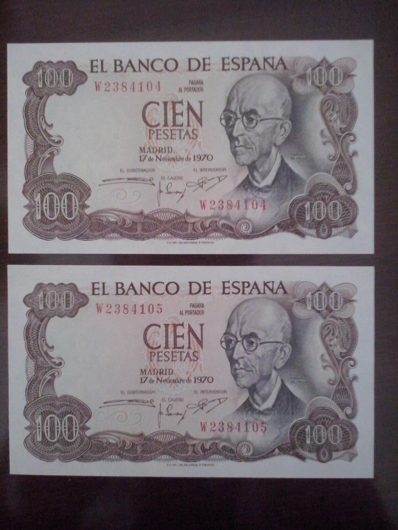 100 Pesetas 1970 (Dos Parejas) CAM00122