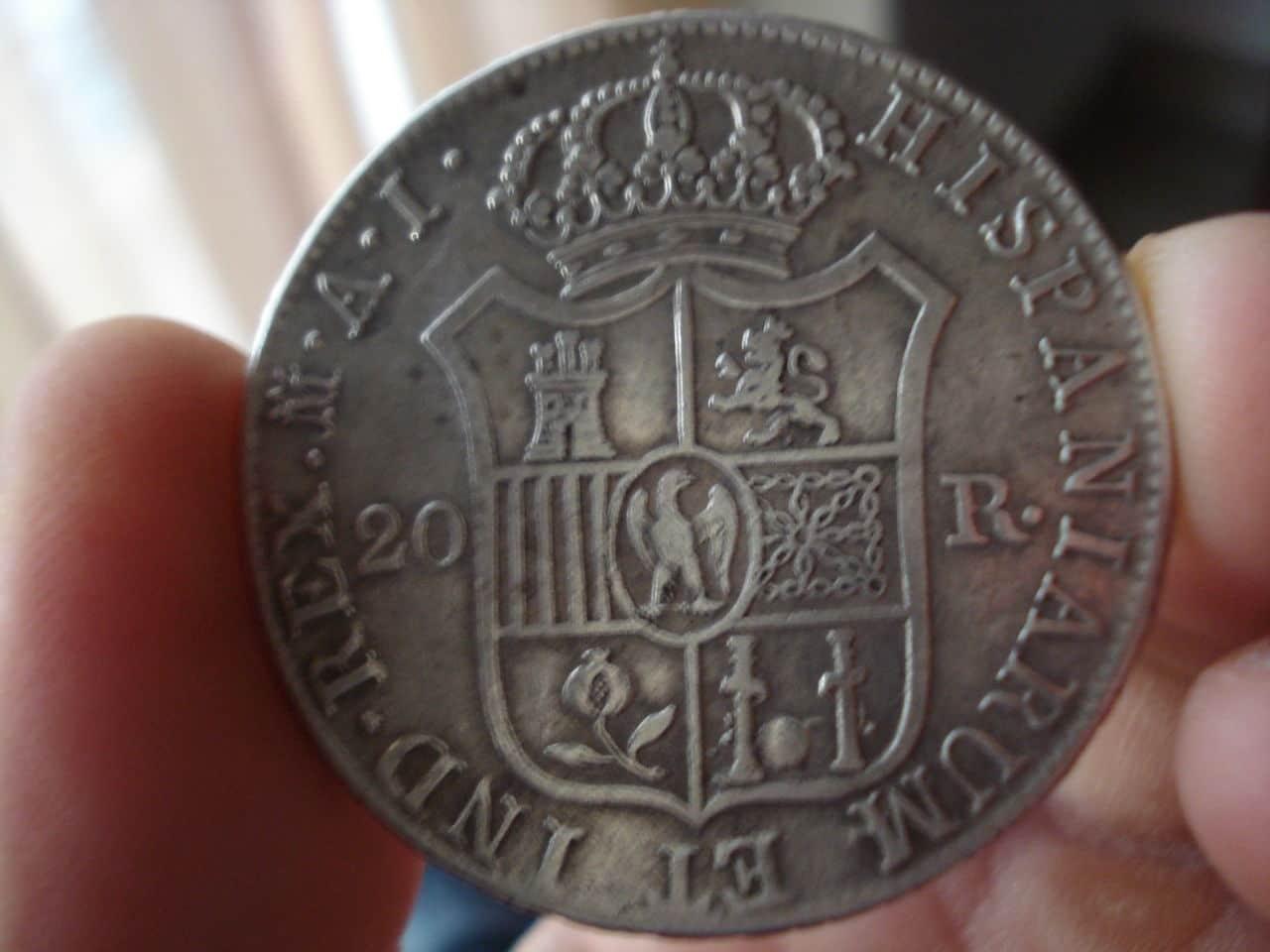 20 reales José I Bonaparte 1809 Madrid. Monedas_023