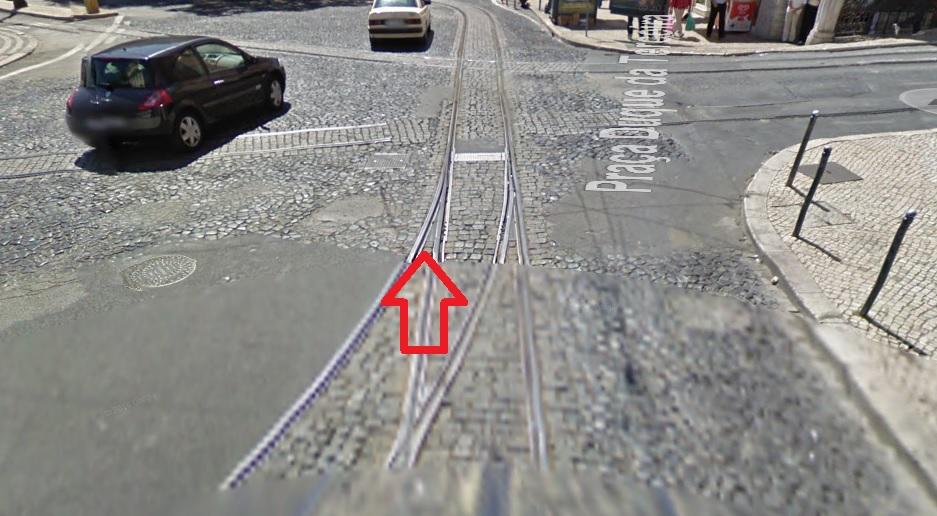 Despiste carris baixa Lisboa Quda