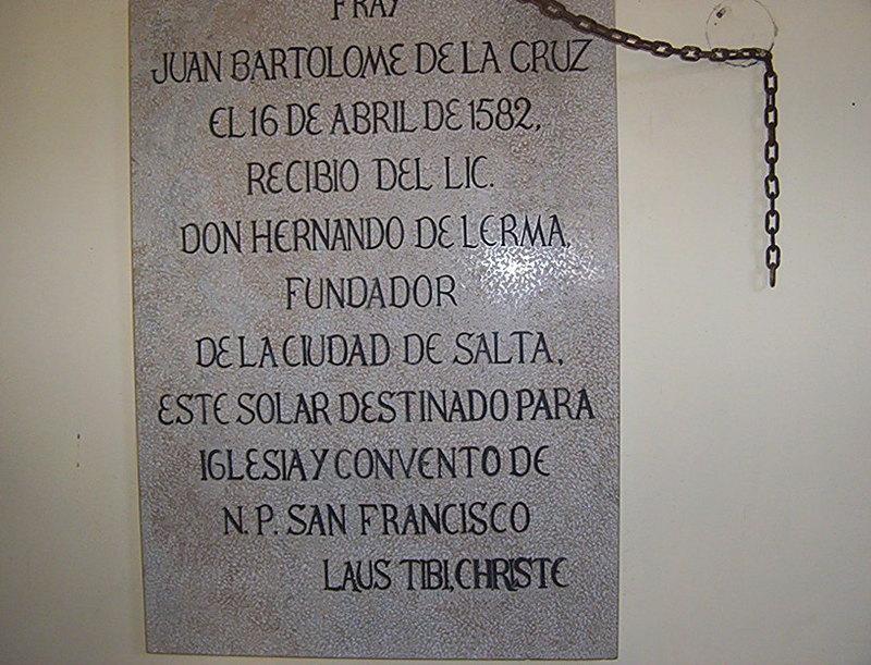UNA VISITA AL MUSEO DEL CONVENTO DE SAN FRANCISCO SALTA Piedra_fundamental