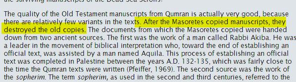 Destruction de textes saints originaux Image