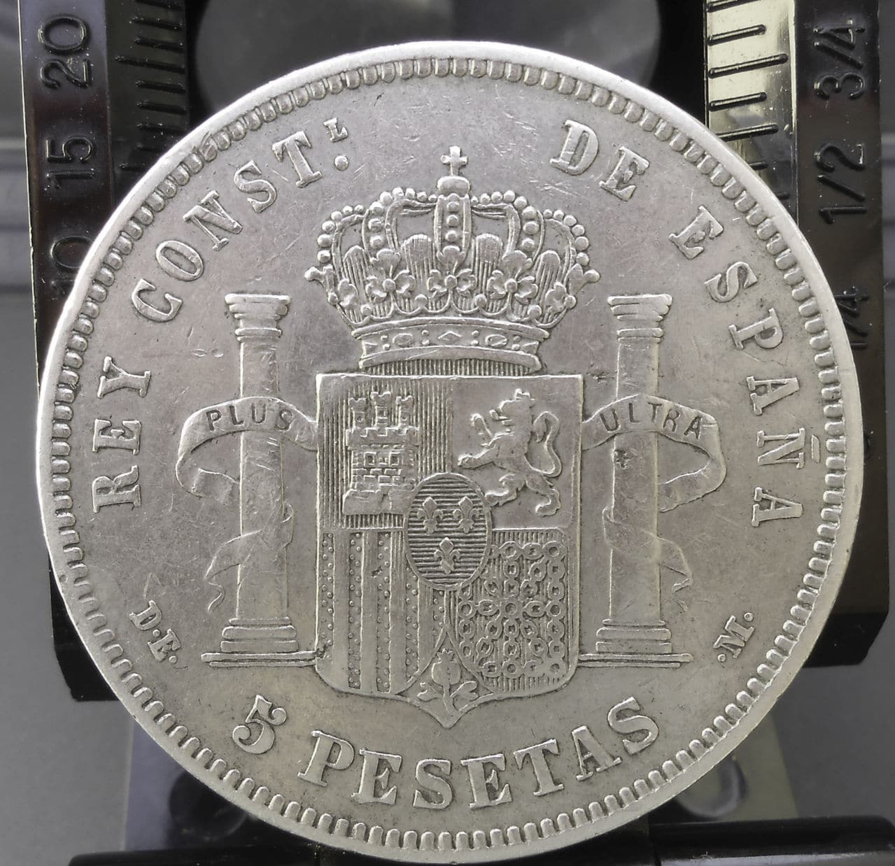 5 pesetas Alfonso XII -1878 DSCN1466