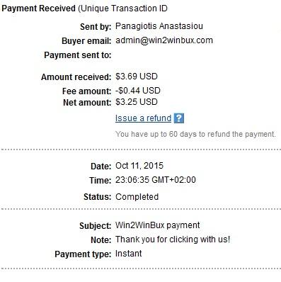 1º Pago de Win2winbux ( $3,69 ) Win2winbuxpayment