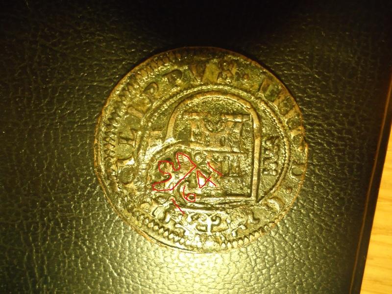 8 maravedís 1623. Felipe IV. Segovia. Resello a XII de 1641 Gu_C1_O