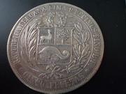 5 Pesetas de 1.880 , Perú DSCN1414