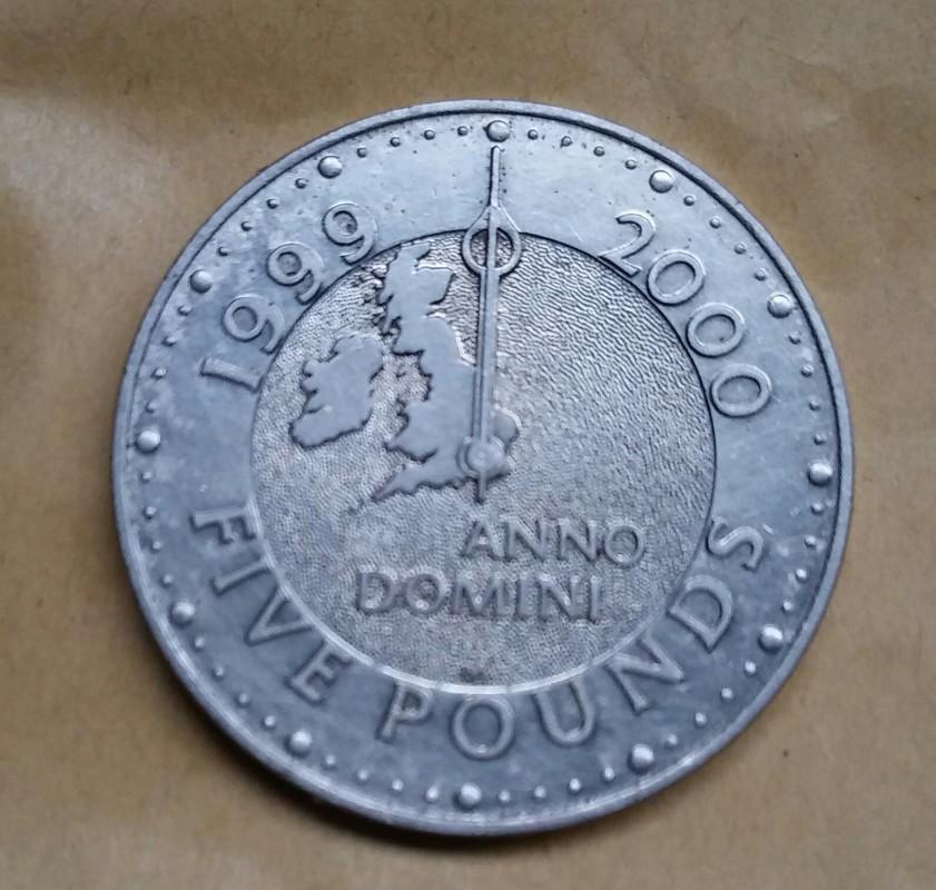 5 Libras. Reino Unido (1999) (Cambio de milénio) 20170327_120924