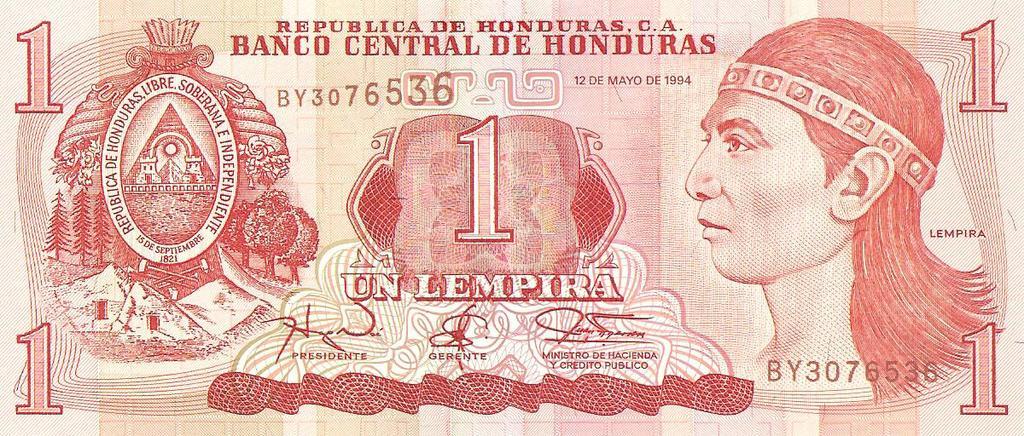 1 lempira de Honduras de 1994  Image