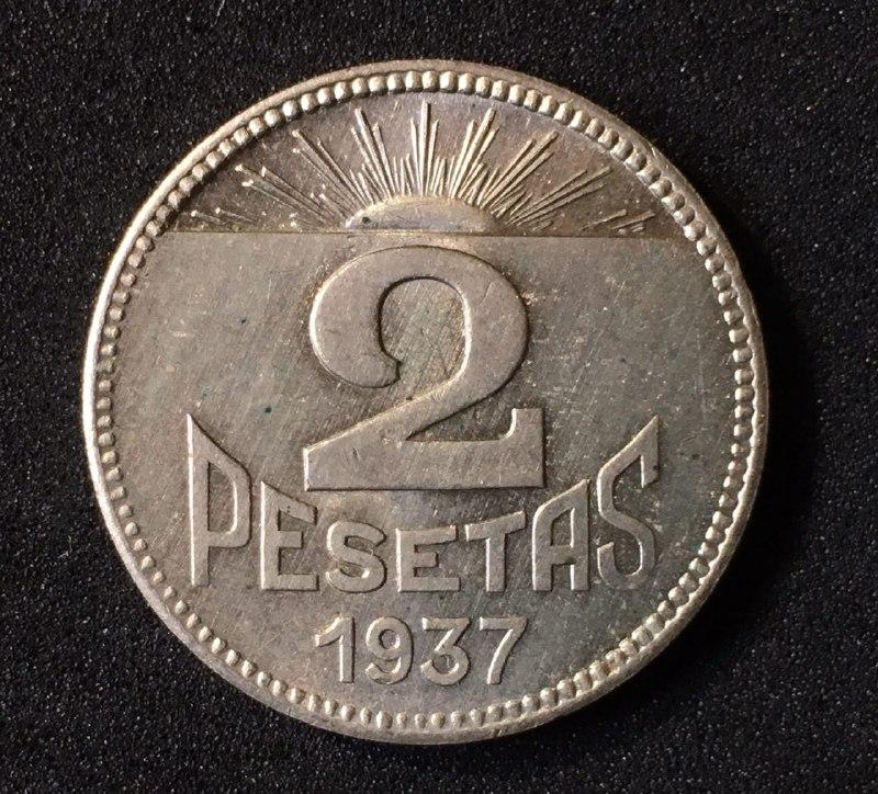 2 pesetas 1937. Consejo de Asturia y León. Guerra Civil IMG_20170419_211033