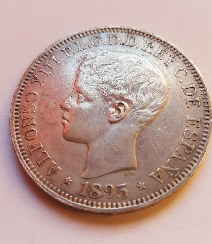 1 Peso 1895. Alfonso XIII Puerto Rico. 20171113_154518