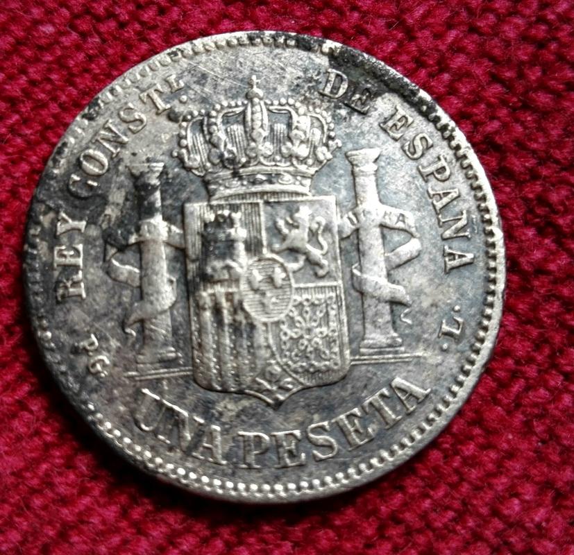 1 peseta 1893. Alfonso XIII IMG_20170325_151949