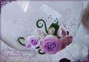 Фужер с розами из глины Фимо DSC07381