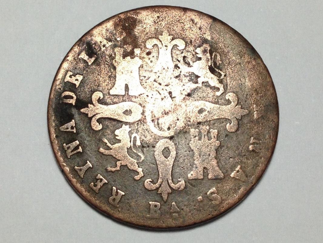 4 maravedis Isabel II Barcelona IMG_1157