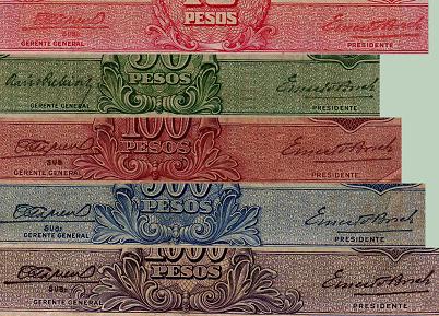 Antiguos Pesos de la Republica Argentina Leyes 12962 (Moneda Nacional) Tipo1a