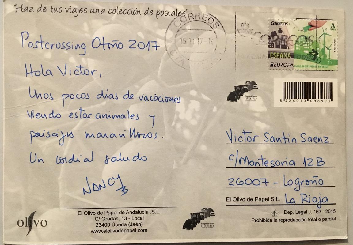 Intercambio postalero - POSTCROSSING OTOÑO 2017 / EL DESVAN - Página 2 IMG_3835