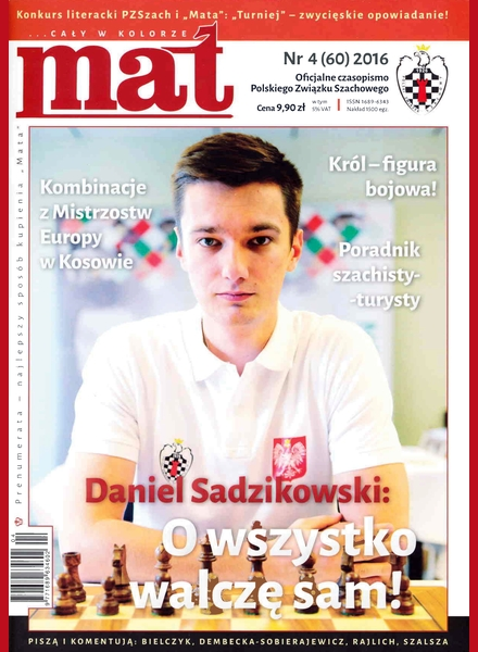 Chess Periodicals :: Czasopismo MAT (Polish Chess Magazine) Mat_2016-04