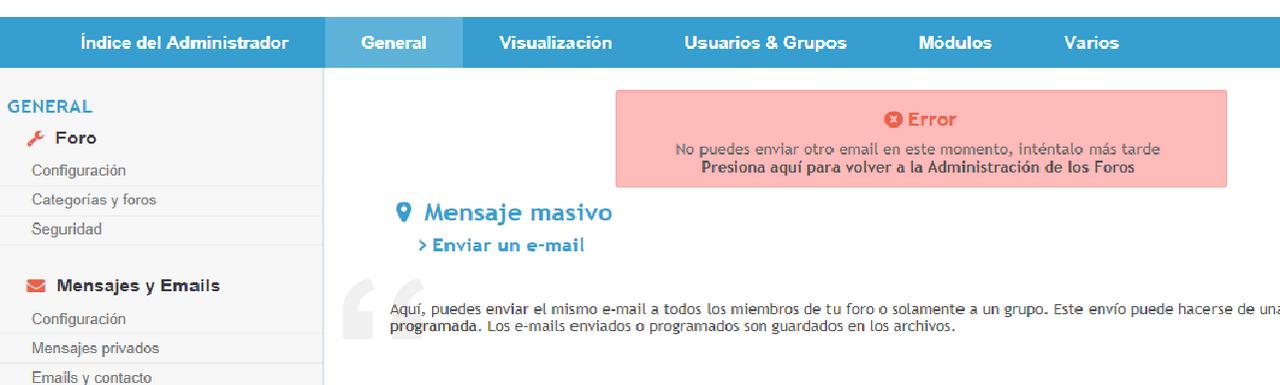 [Resuelto]No puedo enviar un email masivo porque me dice que ya he enviado uno recientemente Sin_t_tulo