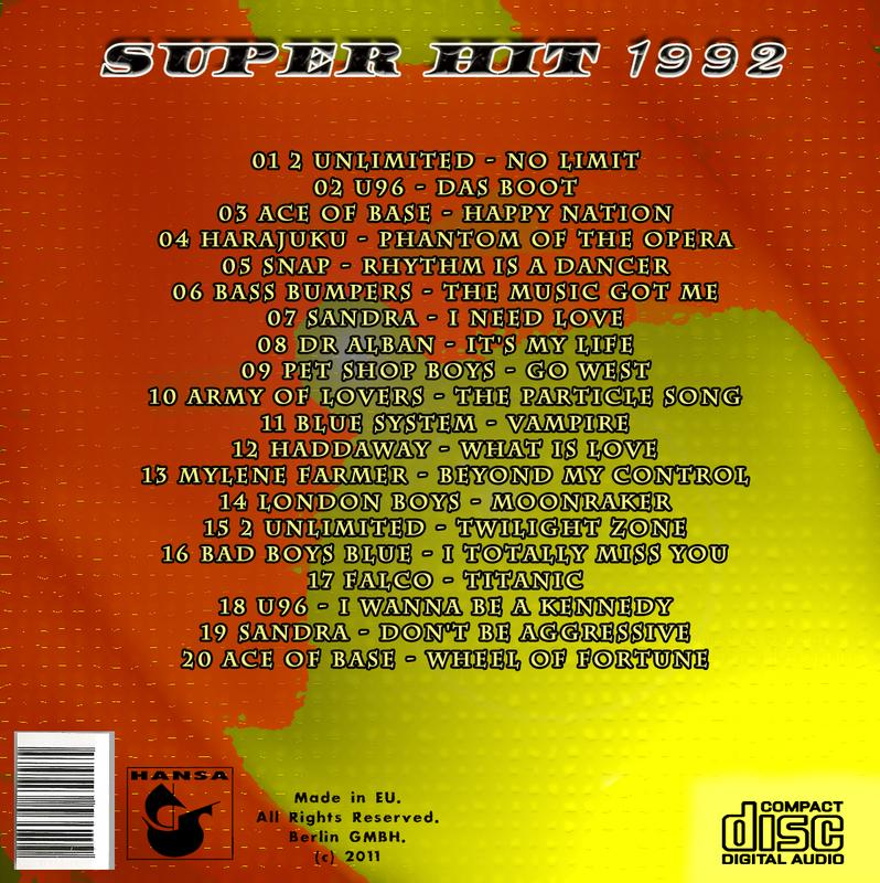 Super Hit Collection Super_Hit_1992_back
