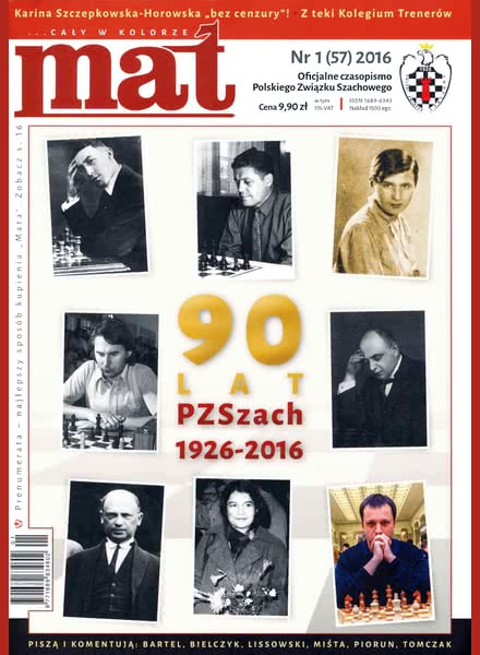 CHESS PERIODICALS :: Czasopismo MAT (Polish Chess Magazine) Mat-57-2016-01