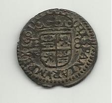 8 maravedis 1661. Felipe IV. Burgos. 8_maravedis_felipe_IV_1661_rever