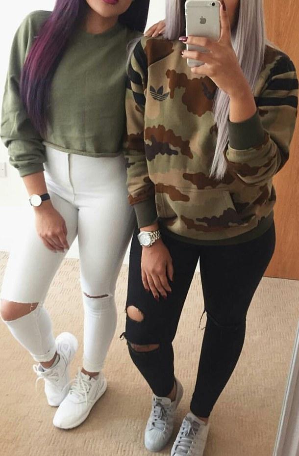 vestes style militaire filles Grey-sneakers-white-sneakers-black-ripped-jeans-white-ripped-jeans-Favim.com-3750038