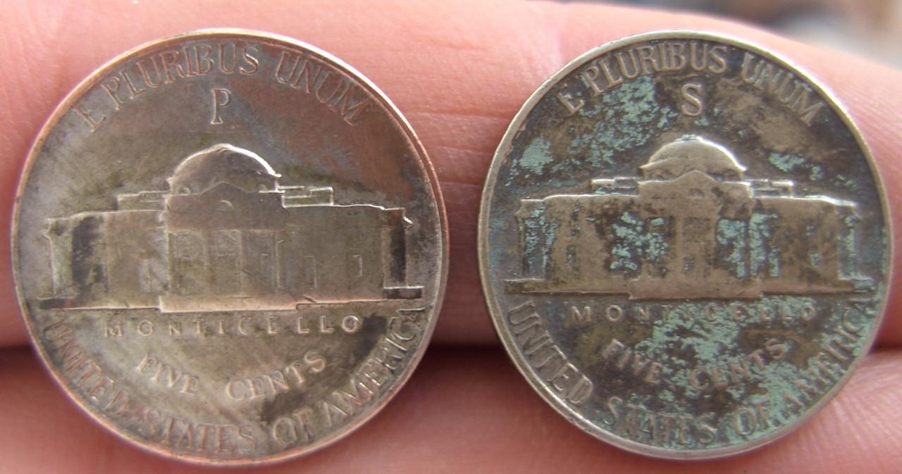 Monedas de 5 centavos Estadounidenses 1943 - 1945 BILD3789