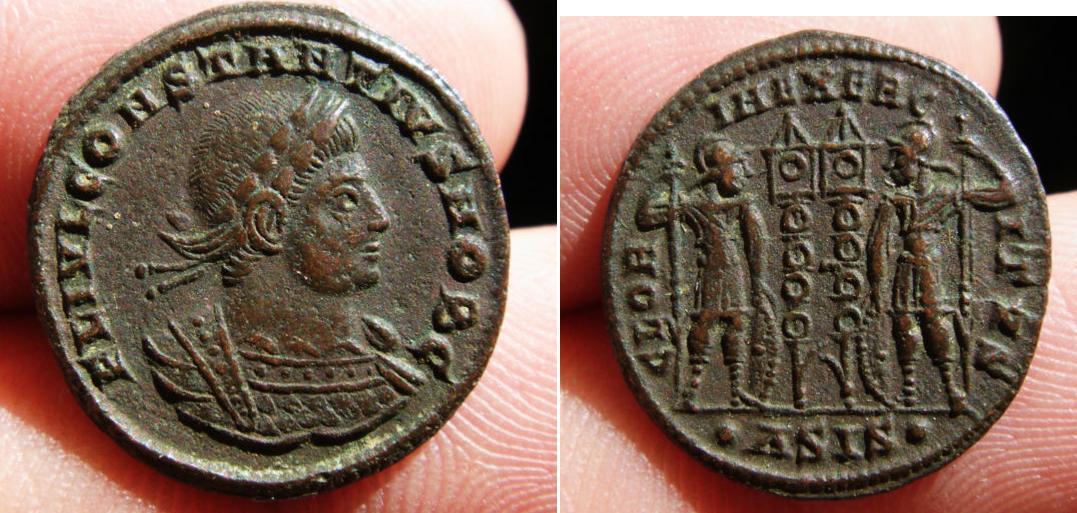 Denominación de monedas en la antigua Roma: El Bajo Imperio. 0_0ae3_cons_ii_siscia