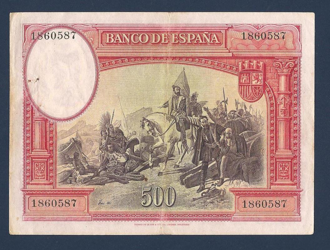 BONITO BILLETE DE 500 PESETAS DE 1935. Facturas_bbva_064