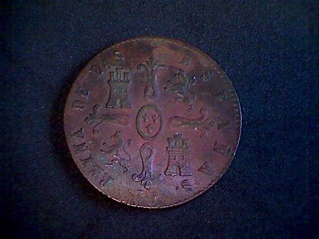 8 Maravedis 1848. Isabel II. Jubia 8_Maravedis_Isabel_II_1848b
